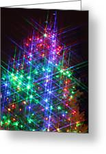 Star Like Christmas Lights Greeting Card