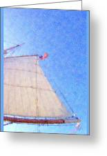 Star Of India. Flag And Sail Greeting Card