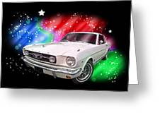 Star Of The Show - 66 Mustang Greeting Card