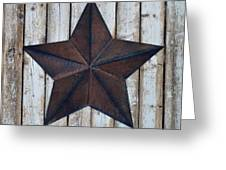 Star On Barn Wall Greeting Card