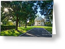 Star Over The Mausoleum - Henry And Arabella Huntington Overlooks The Gardens. Greeting Card