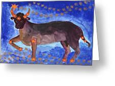 Star Sign Taurus Greeting Card