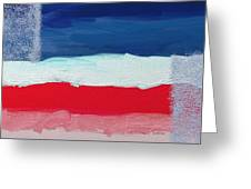 Star Spangled American Landscape Greeting Card