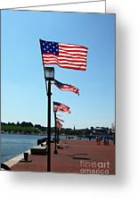 Star Spangled Banner Flags In Baltimore Greeting Card