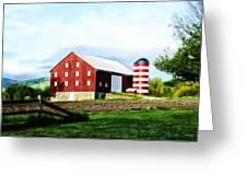 Star Spangled Farm Greeting Card