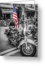 Star Spangled Harley Greeting Card