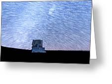 Star Trails Above Subaru Telescope Greeting Card
