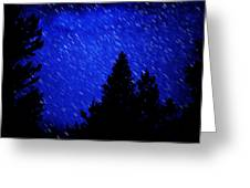 Star Trails In Night Sky Greeting Card