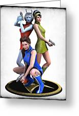 Star Trek - Kirks Angels Greeting Card by Frederico Borges