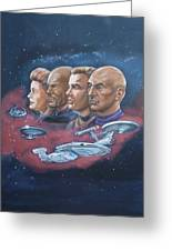 Star Trek Tribute Captains Greeting Card