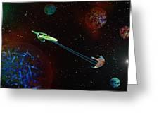 Star Trek -uss Enterprise Greeting Card by Michael Rucker