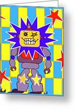 Starbot Robot Greeting Card