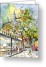 Starbucks Cafe In Budapest Greeting Card