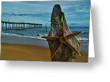 Starfish Driftwood And Pier 3 12/20 Greeting Card