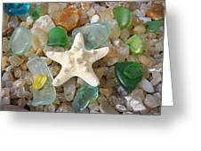 Starfish Fine Art Photography Seaglass Coastal Beach Greeting Card