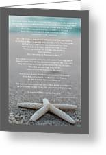 Starfish Make A Difference  Greeting Card
