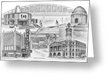 Stark County Ohio Print - Canton Lives Greeting Card by Kelli Swan