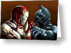 Stark Industries Vs Wayne Enterprises Greeting Card