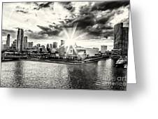Starlight Over The American Airlines Arena Greeting Card
