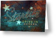 Starlite Drive In Greeting Card