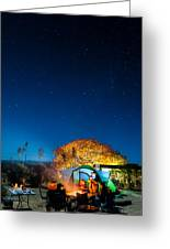 Starry Camp Fire Greeting Card