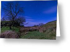 Starry Night Above Hadrians Wall Greeting Card