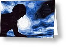 Starry Night Depression Greeting Card