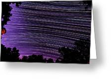 Starry Night In Ithaca New York Star Trail Photography Greeting Card