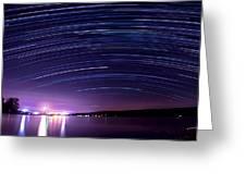 Starry Night On Cayuga Lake Greeting Card
