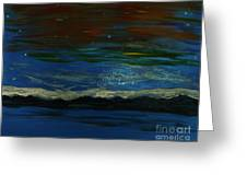 Starry Sky Over Water Greeting Card
