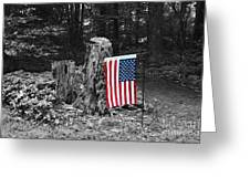 Stars And Stripes With Selective Color Greeting Card