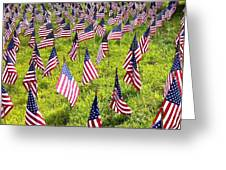 Stars And Stripes Greeting Card