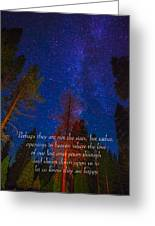 Stars Light Star Bright Fine Art Photography Prints And Inspirational Note Cards Greeting Card