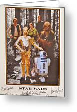 Stars Wars Autographed Movie Poster Greeting Card