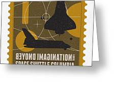 Starschips 01-poststamp - Spaceshuttle Greeting Card