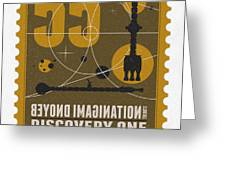 Starschips 55-poststamp -discovery One Greeting Card by Chungkong Art
