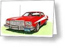 Starsky Hutch 1974 Ford Gran Torino Sport Greeting Card