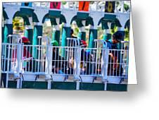 Starting Gate- Del Mar Greeting Card