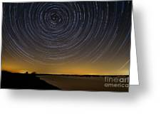 Startrails 3 Greeting Card