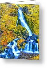 Starvation Creek Falls Greeting Card