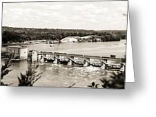 Starved Rock Lock And Dam Greeting Card