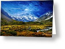 Stary Night Over Highlands Greeting Card