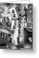 Stata Building 1 Bw Greeting Card