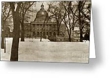 State Building Boston Massachusetts Circa 1900 Greeting Card