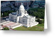 State Capitol Buildng Providence Rhode Island Greeting Card