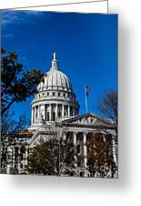 State Capitol In Madison Wi Greeting Card