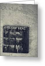 State Car Keys Greeting Card