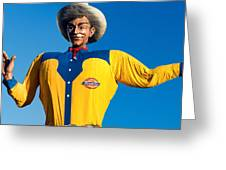 State Fair Of Texas Big Tex Yellow Greeting Card