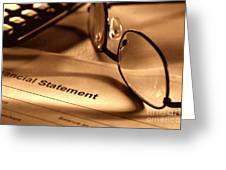 Statement With Glasses Greeting Card