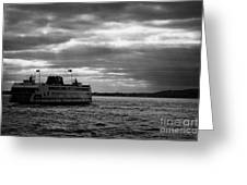 staten island ferry Andrew J Barberi heading towards staten island Greeting Card